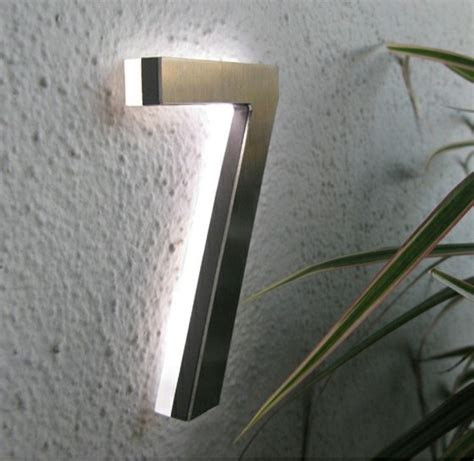 house number modern led house number 5 quot outdoor by luxello led modern house numbers by