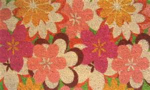 Floral Welcome Mat Floral Patterans And Flower Designs On Welcome Mats And