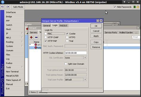 membuat hotspot mikrotik dengan radius konfigurasi hotspot mikrotik sebagai radius client arjo