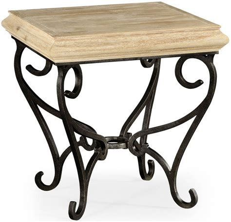 Wrought Iron Table Ls Square Side Table With Wrought Iron Base