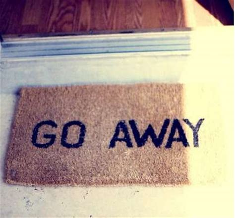 Welcome Mat That Says Go Away by Anti Social Welcome Mats Welcome Mats