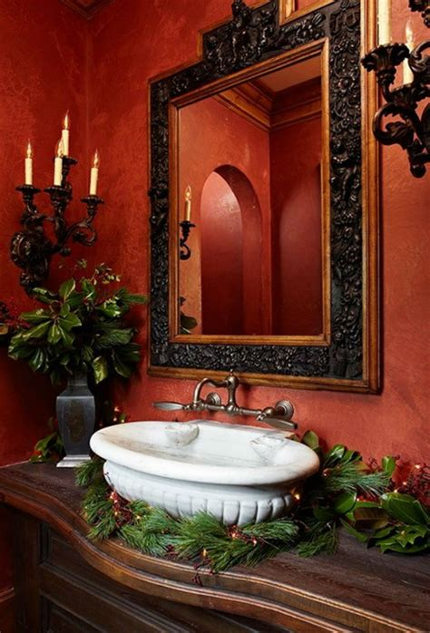 how to decorate your luxurious bathroom for christmas