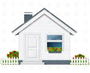 small country house with porch and flue vector clipart