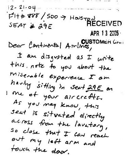 Complaint Letter To Airlines Food Image