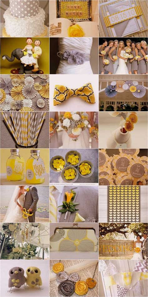 yellow grey wedding theme inspiration