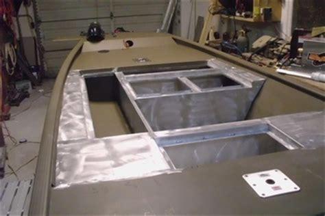 boat livewell insulation custom fabrication fishon fabrications