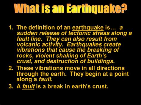 earthquake meaning mulvey power point for earthquake vocabulary