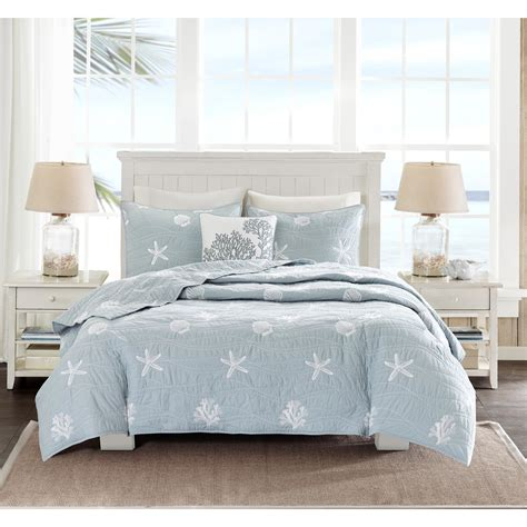 queen coverlet harbor house seaside 4 piece queen coverlet set reviews