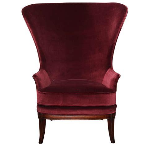 velvet wing back chair velvet wing chair circa 1930