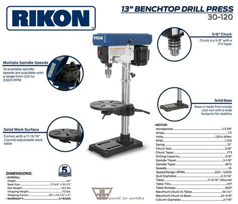 Rikon 30 120 13 Quot Drill Press