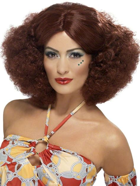curly permed hair styles for 70s age our adult 70s stack perm auburn wig features reddish brown