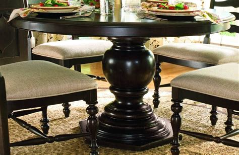 dining room set w round table 33 2303set paula deen home round pedestal table in tobacco code