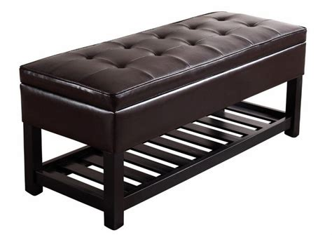 simpli home cosmopolitan storage ottoman bench espresso brown home improvement feel the home part 13