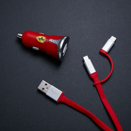 Scuderia 3 Usb Car Charger 7 2 A mobile accessories touch of modern