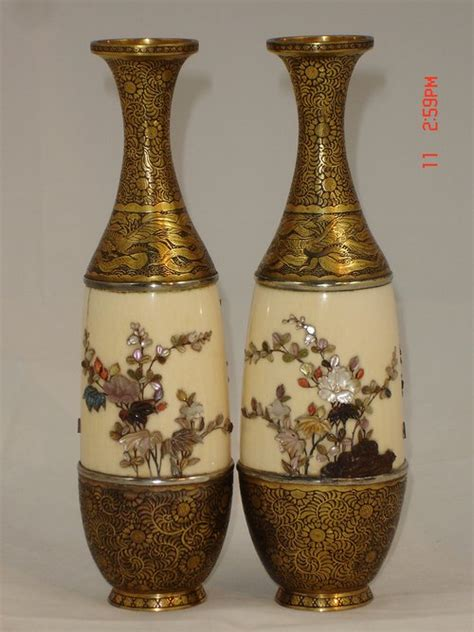Antique Vases From Japan by Antiques Atlas Pair 19th C Japanese Shibayama Vases