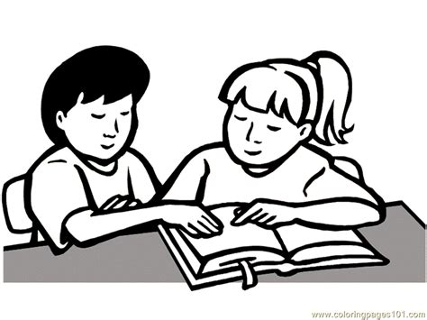read colored children read book printable coloring page for and adults