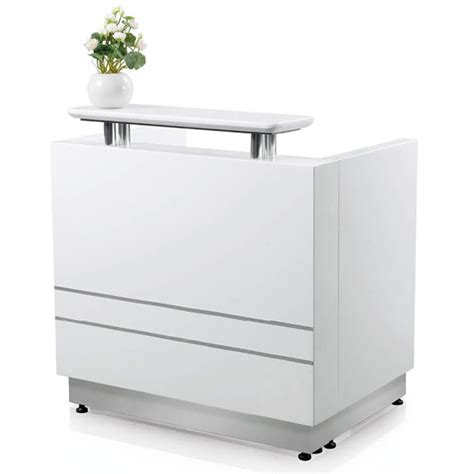 High End Round Counter Commercial Front Desk White Salon White Salon Reception Desk