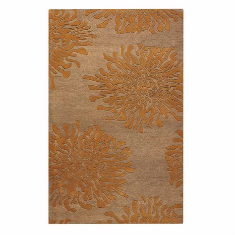 brunswick rug kaleen solitaire copper 8 ft x 11 ft area rug sol09 67 811 the home depot