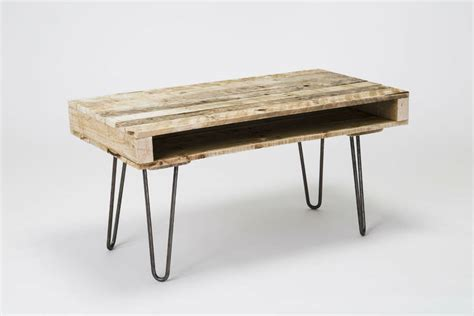 Pallet Coffee Table With Hairpin Legs By Gas Air Studios Coffee Table With Hairpin Legs