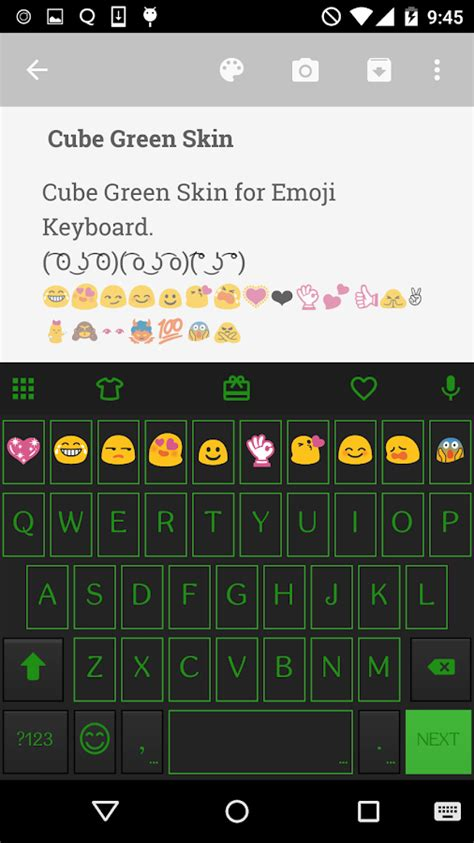 how to get color emoji on android green neon emoji keyboard skin android apps on play