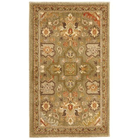home accent rug collection home decorators collection grayson green 1 ft 10 in x 3 ft accent rug 450572 the home depot