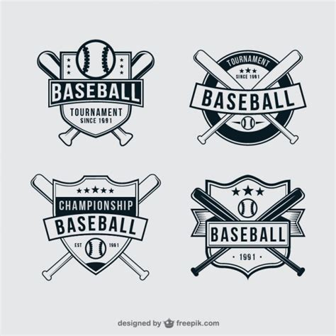 baseball logo template baseball badges vector free