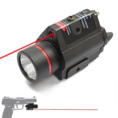 pistol laser light combo updated feyachi red laser 200 lumen flashlight combo