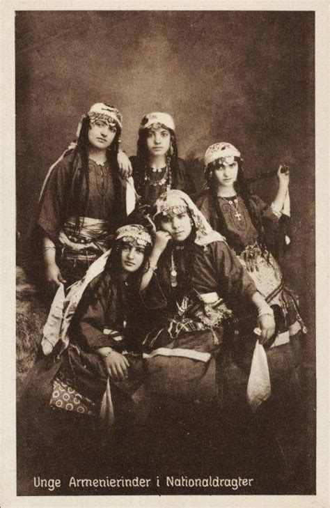 armenians in ottoman empire young armenian women in national costumes a vintage danish
