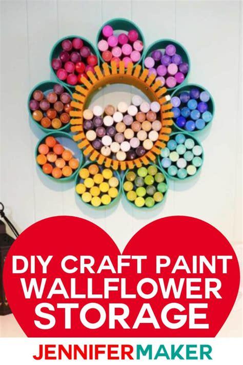 diy craft paint storage  pretty pvc wallflower