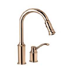 Moen Copper Kitchen Faucet by 7590cpr 7590cpr Aberdeen Single Handle Copper Kitchen