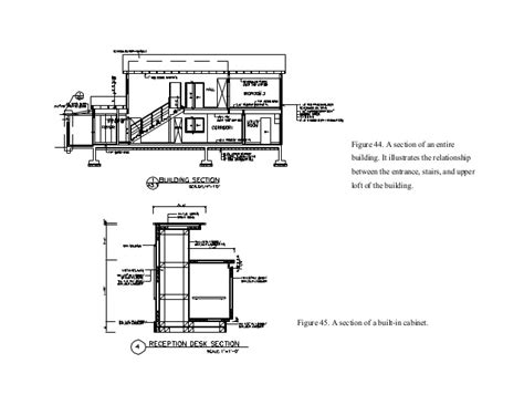interior design section drawings interior design student handbook