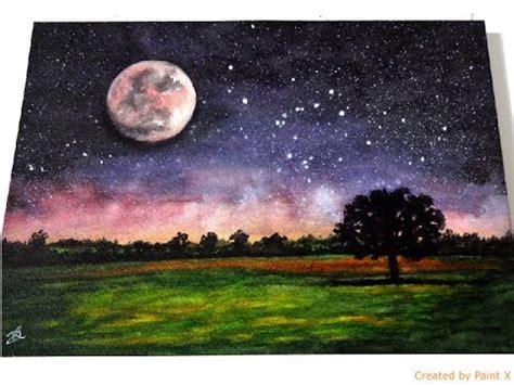 watercolor moon tutorial watercolor painting tutorial full moon youtube