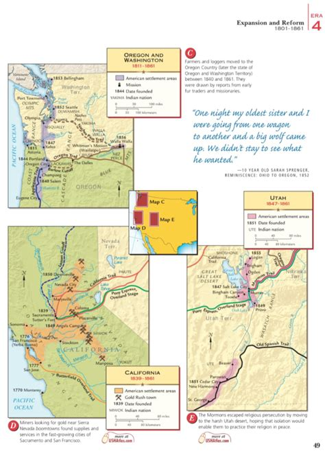 West Across The Rockies Worksheet west across the rockies era 4 26a mr peinert s social
