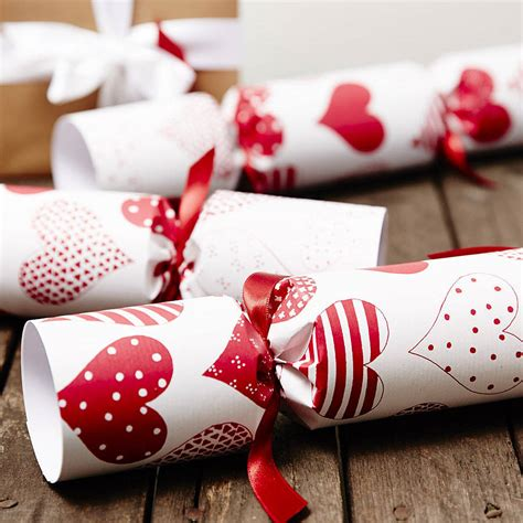 red heart white christmas crackers by sophia victoria joy