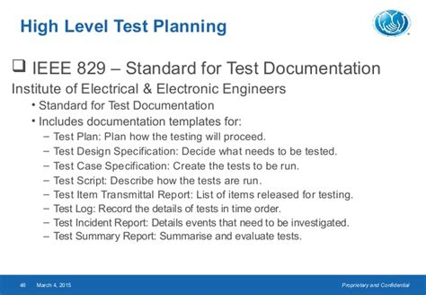 Ieee 829 Standard Test Summary Report Template Powerpoint Template For Testing