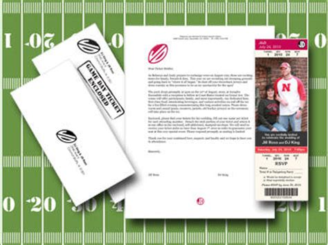 Sports Theme Wedding Invitations by Sports Themed Weddings Custom Wedding Invitations And
