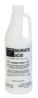 image gallery muriatic acid