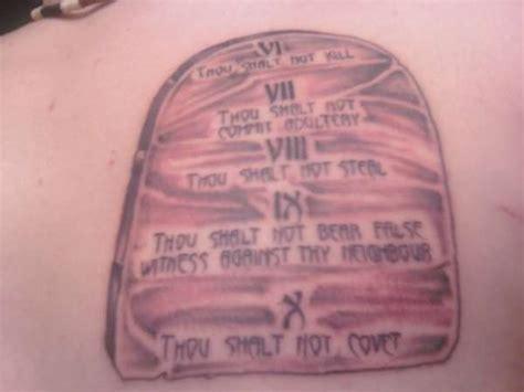 10 commandments tattoo second tablet of the ten commandments