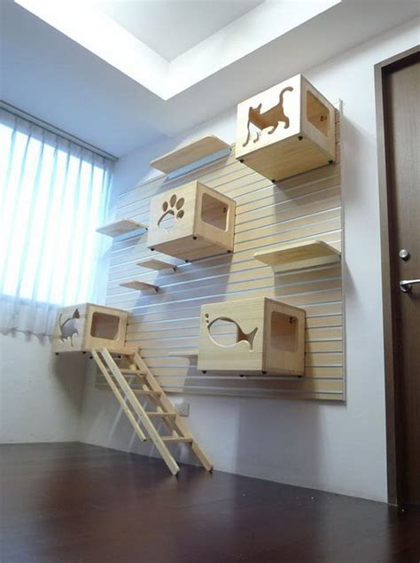 cat wall furniture a play yard for your cat modular cat climbing wall by