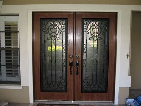 glass inlay front doors wrought iron entry doors prices home ideas collection