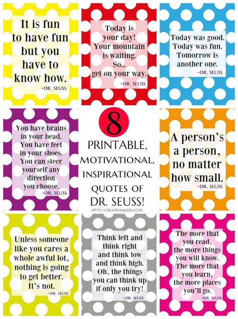 printable quotes about reading 8 free printable motivational inspirational dr seuss