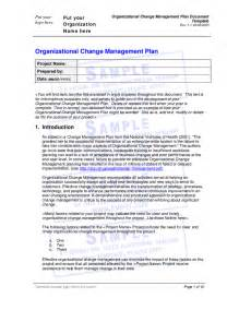 change strategy template organizational change management plan document template