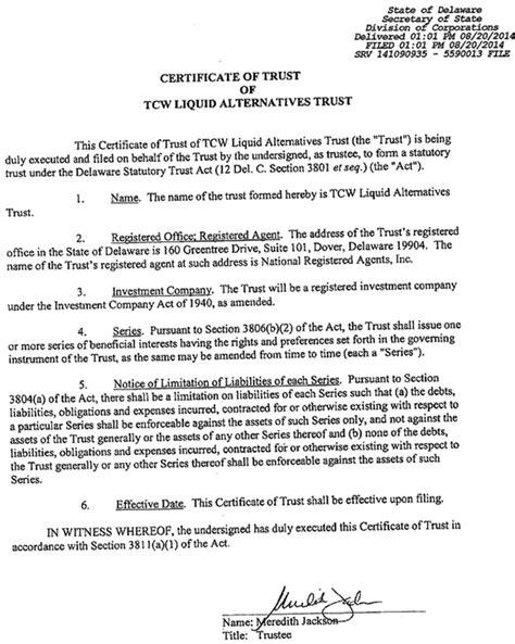 Logo Certificate Of Trust Template