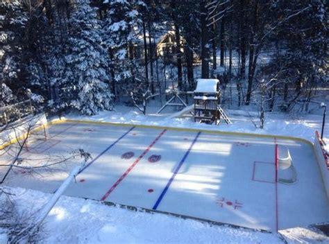 How To Flood A Backyard Rink by Backyard Rink Has Level Bar Golf Cart