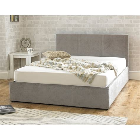 super king size ottoman bed stirling ottoman 6ft super king size stone fabric bed