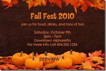 Free Archives Fall Invitation Templates Free