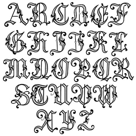 tattoo font styles alphabet fancy letters of the alphabet tattoo fonts old