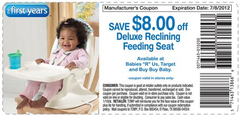 the years deluxe reclining feeding seat coupon and