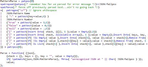 json pattern matching fast json parsing using pattern matching jmp user community