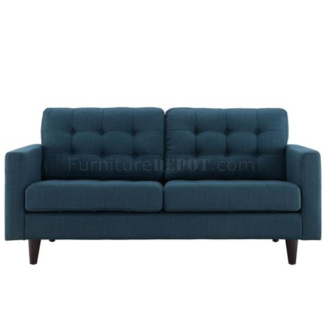 azure sofa empress sofa in azure fabric by modway w options